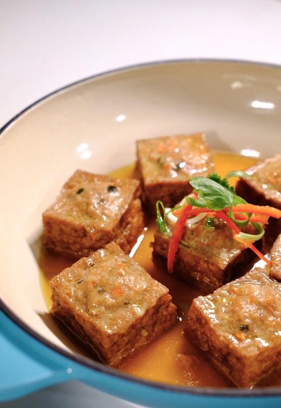 補充蛋白質料理-蒸鑲豆腐
