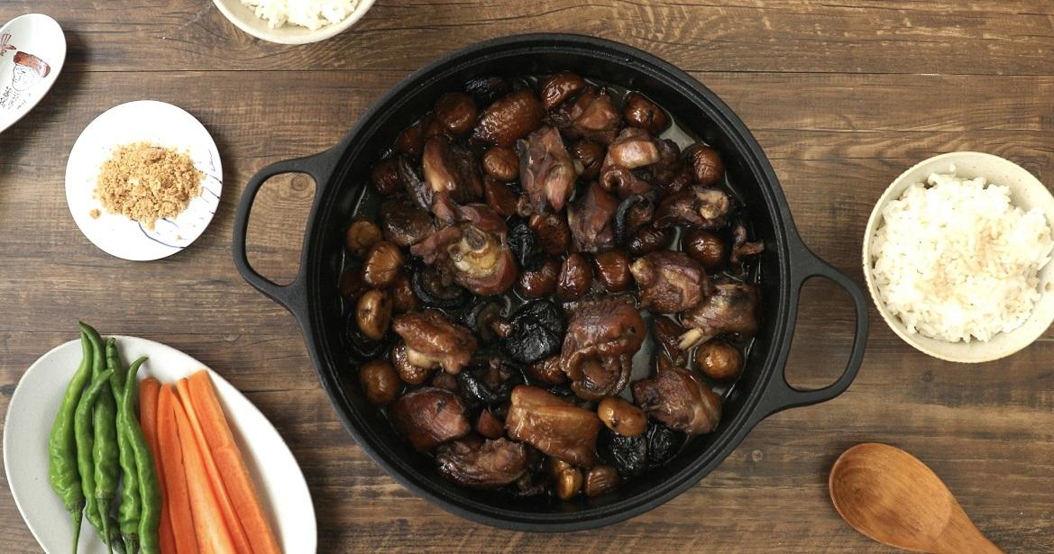 【豆油伯隨手廚房】栗子香菇雞