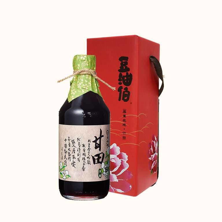 豆油伯甘田釀造醬油500ml(薄鹽醬油/禮盒)
