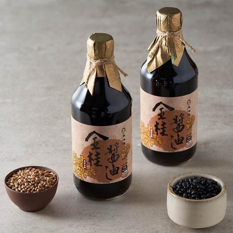 【箱購限量組合】金桂醬油6入+金美滿醬油6入(共12入)+IRIS 空氣循環扇(白)