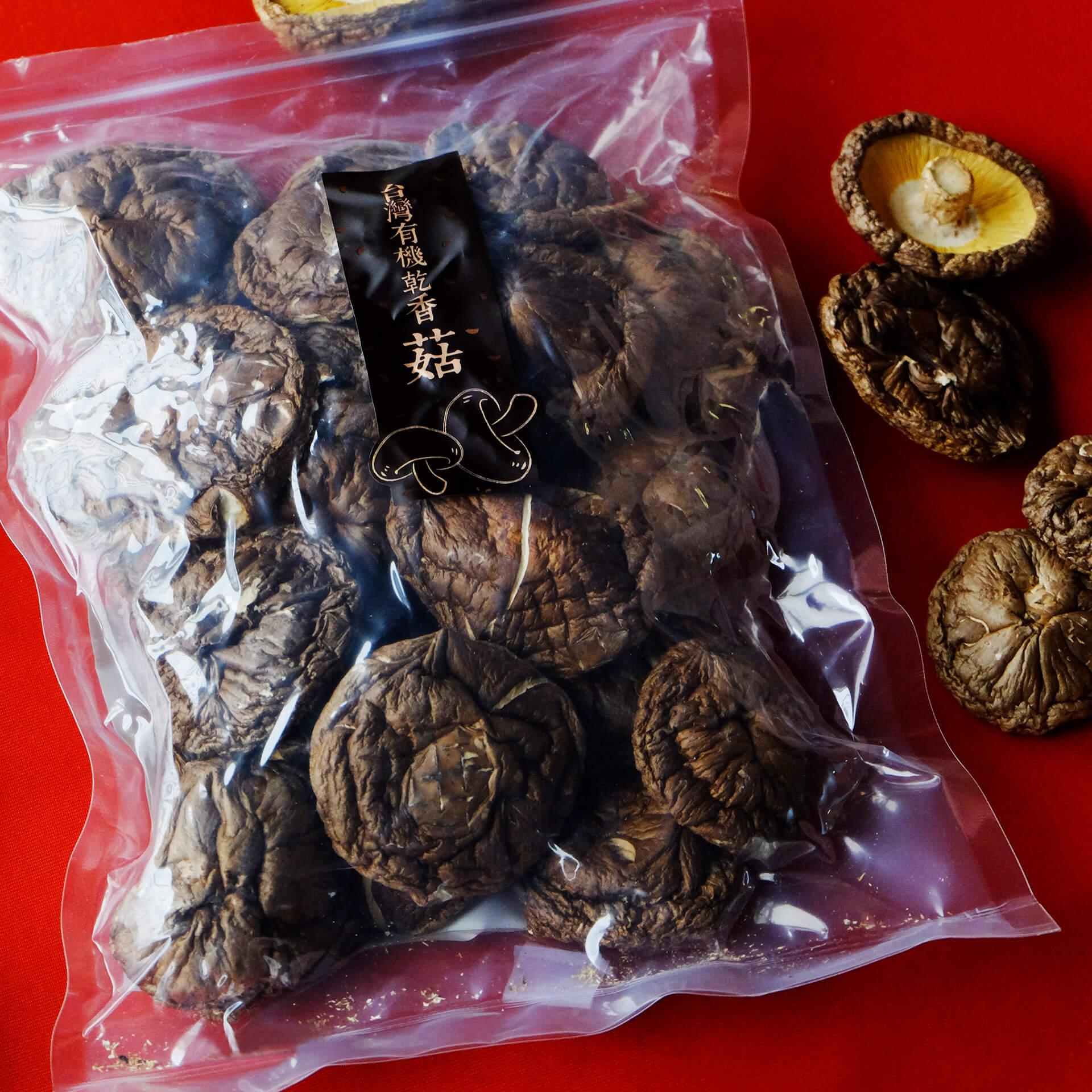 台灣有機乾香菇90g