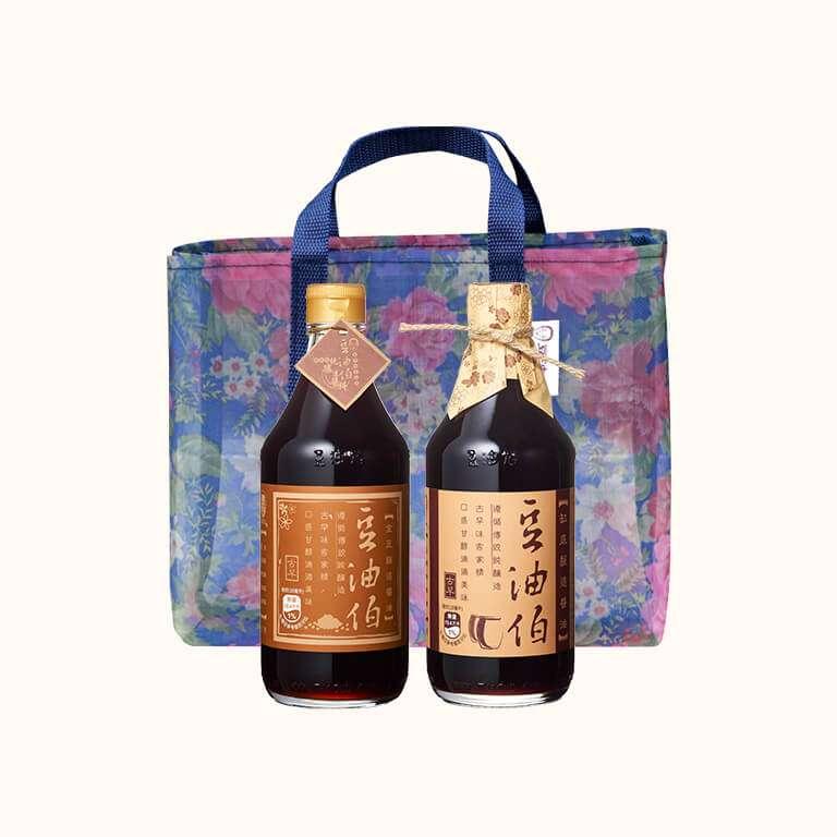 【新客限定】缸底醬油1入+金豆醬油1入(共2入)送復古袋1個(不挑色)