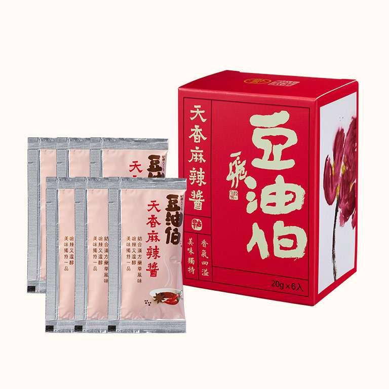 豆油伯天香麻辣醬(6入隨身包)有效:20220510