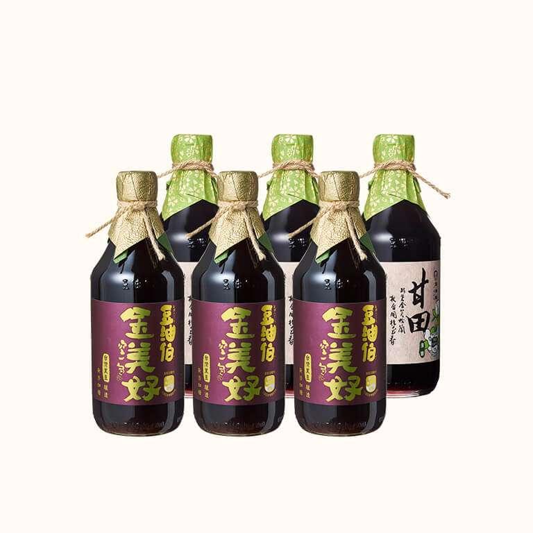 【料理推薦-涼拌西芹雞絲】金美好黑豆醬油 3入+甘田薄鹽醬油 3入(共6入)