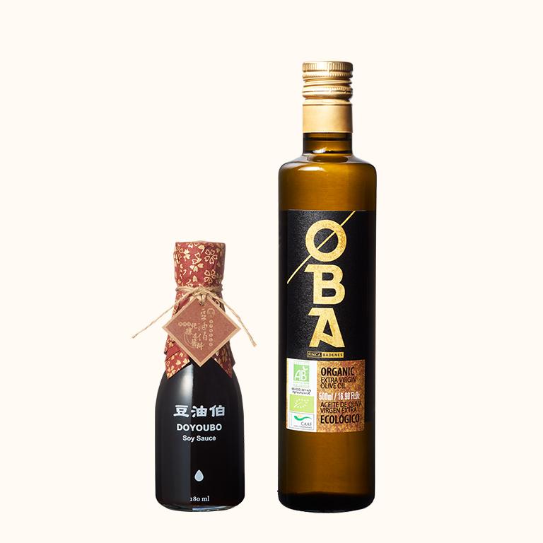 【新客免運組】OBA有機橄欖油500ml+缸底醬油180ml(共2入)