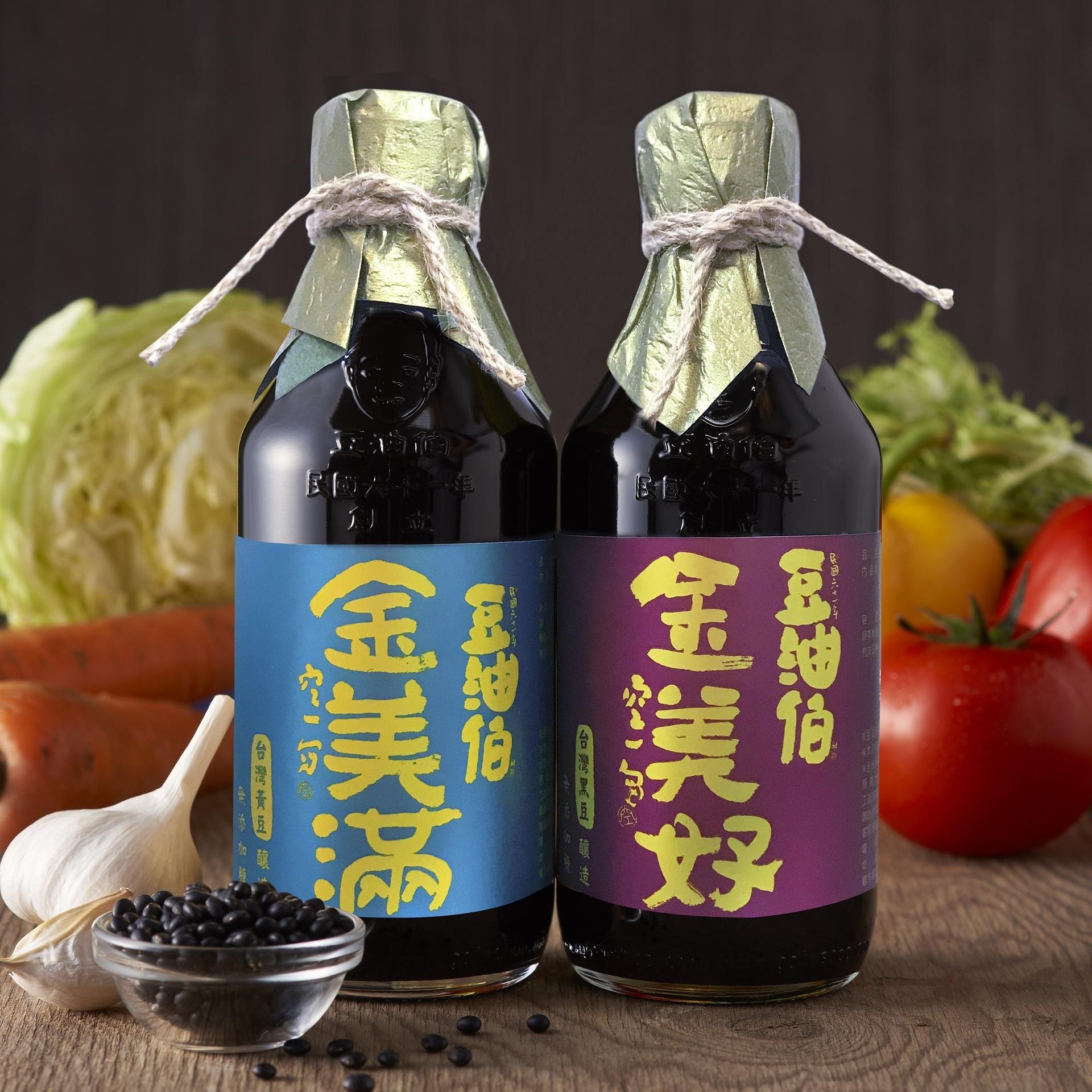 金美滿醬油1入+金美好醬油1入(禮盒1組,共2入)