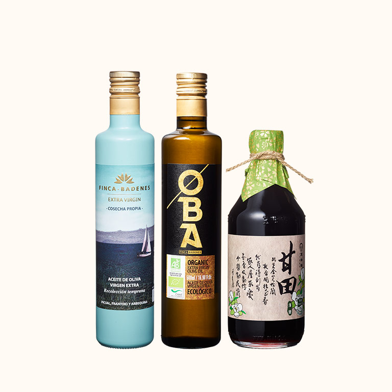 OBA有機橄油1入+巴狄尼絲橄欖油1入+甘田醬油1入(共3入)