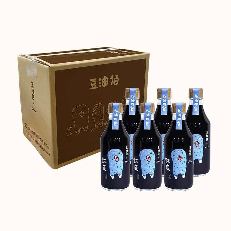 豆油伯X阿咧A-Lei限定款_缸底釀造醬油300ml*6入/箱