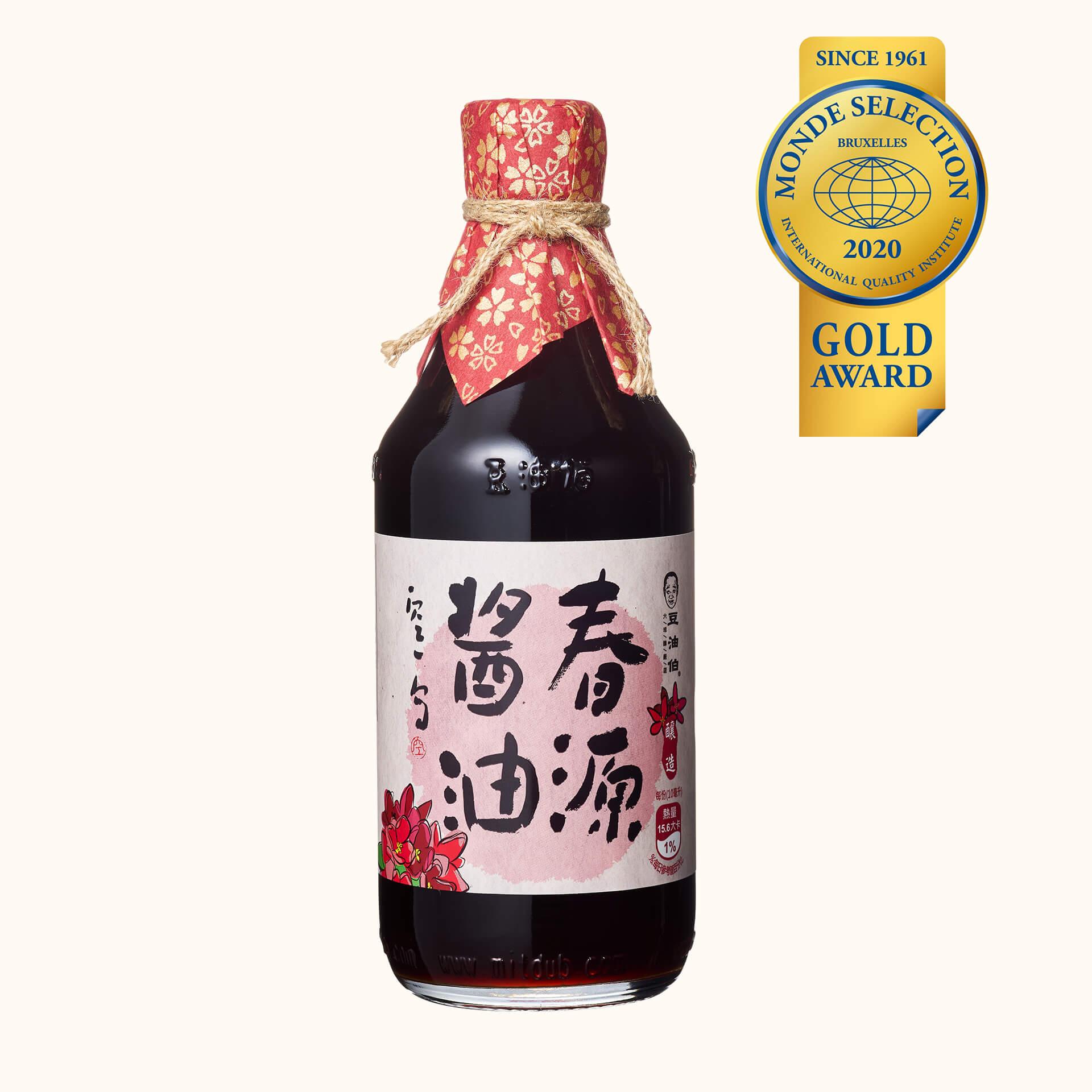 豆油伯春源釀造醬油500ml(黑豆醬油)