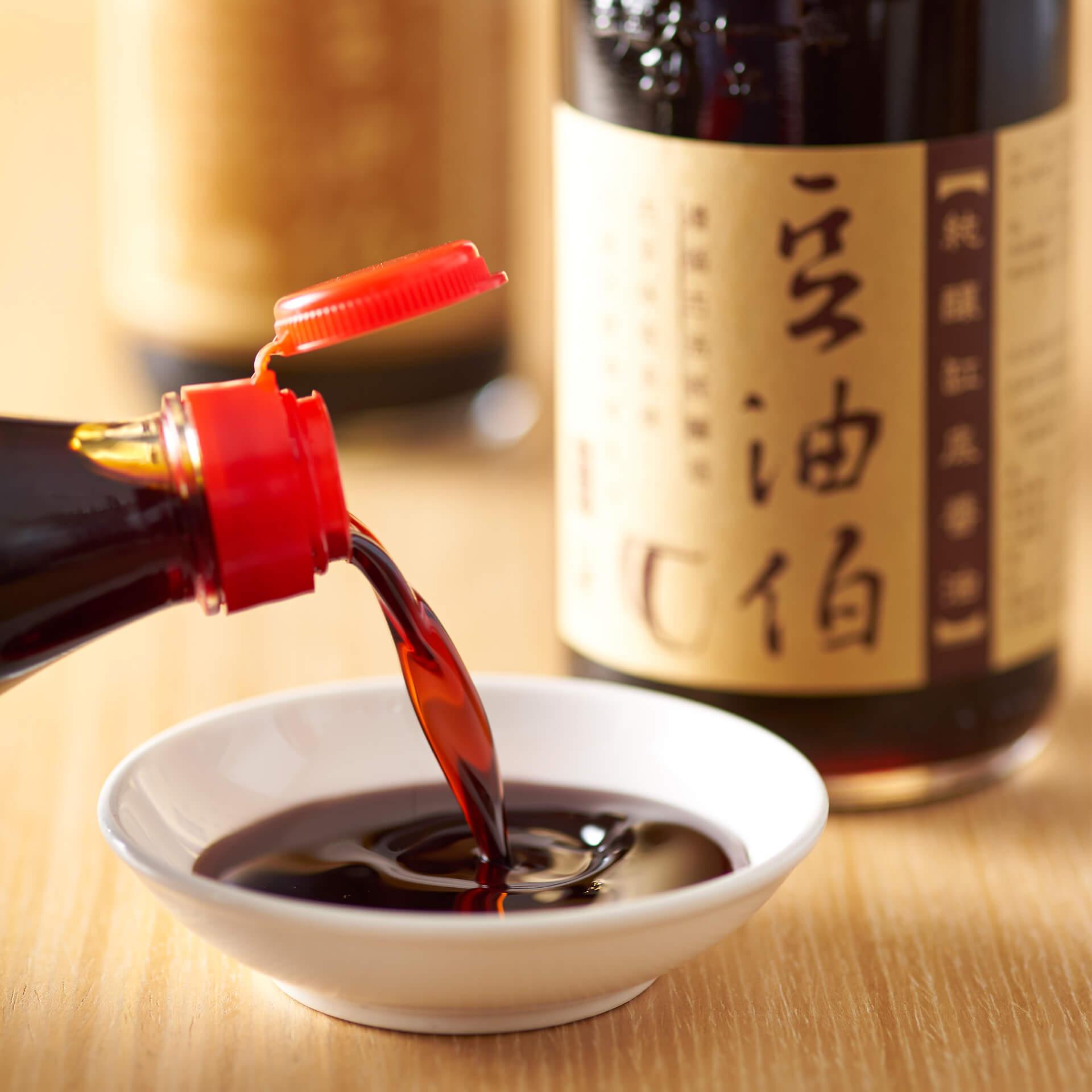 豆油伯缸底釀造醬油500ml