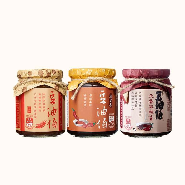 【柔媽咪推薦】香辣醬料組(麻辣醬1瓶+豉留香1瓶+辣豆瓣1瓶)