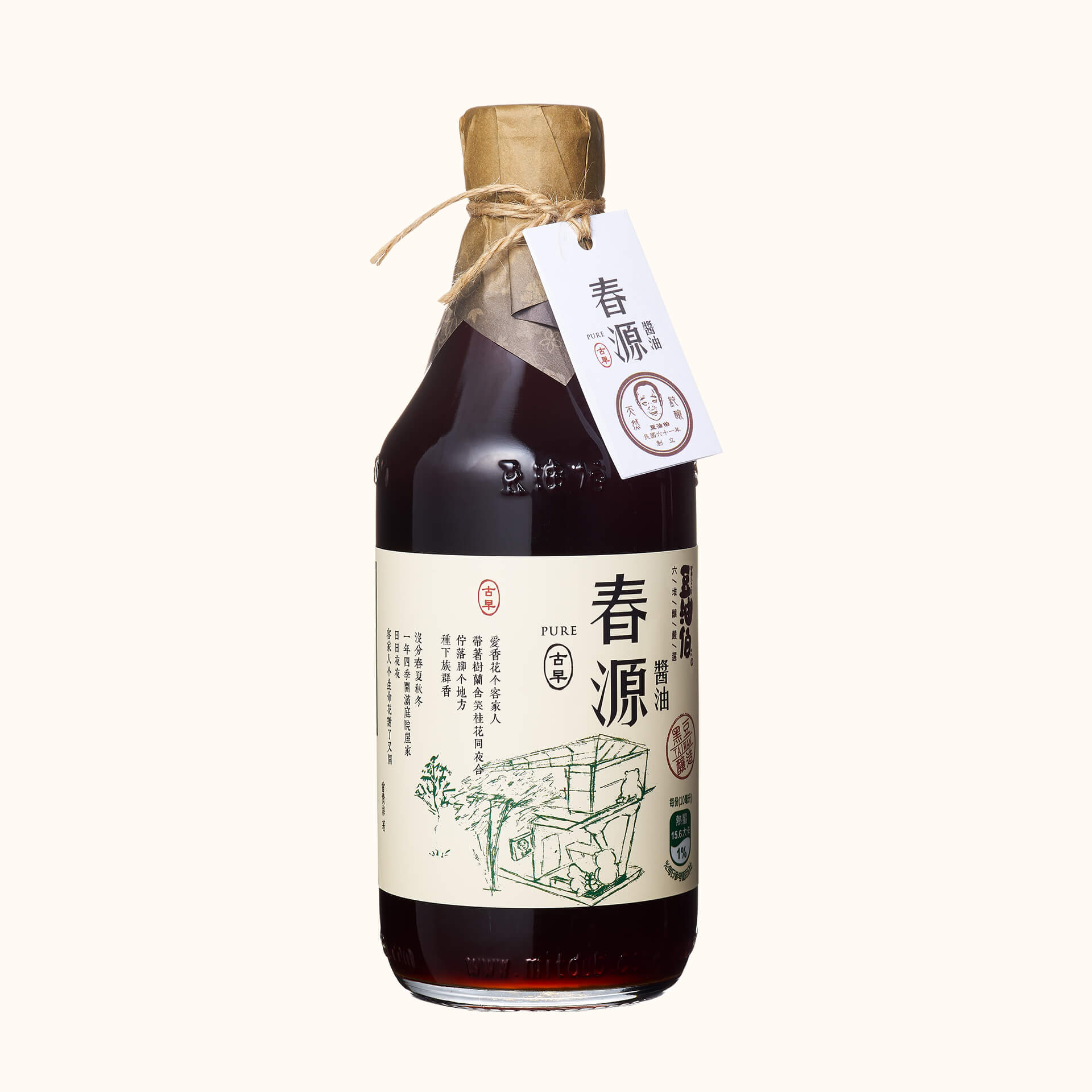 竹田設計版-春源釀造醬油500ml(有效:20220520)