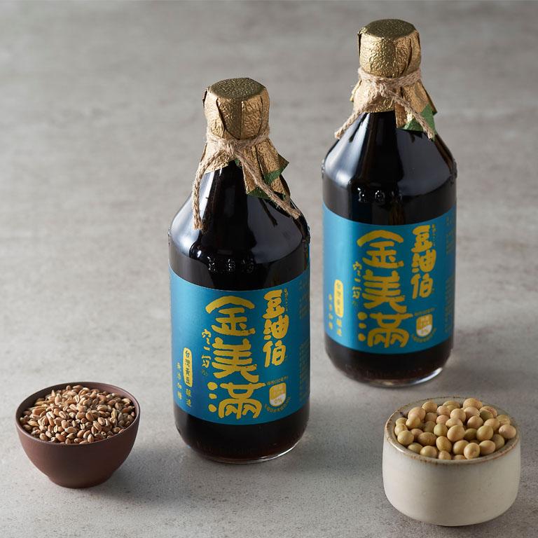 豆油伯金美滿無添加糖釀造醬油500ml(黃豆醬油)