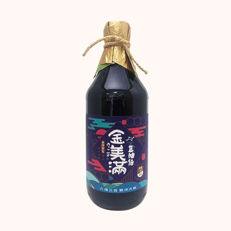 豆油伯金美滿無添加糖釀造醬油_六堆300限定版