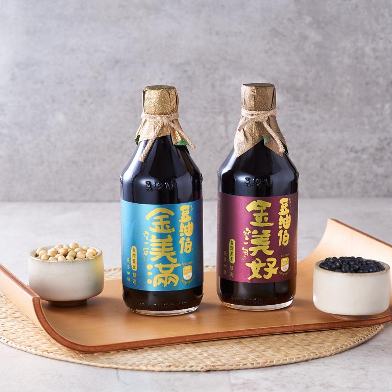 金美滿醬油2入+金美好醬油2入(窗花禮盒2組,共4入)(不挑色)