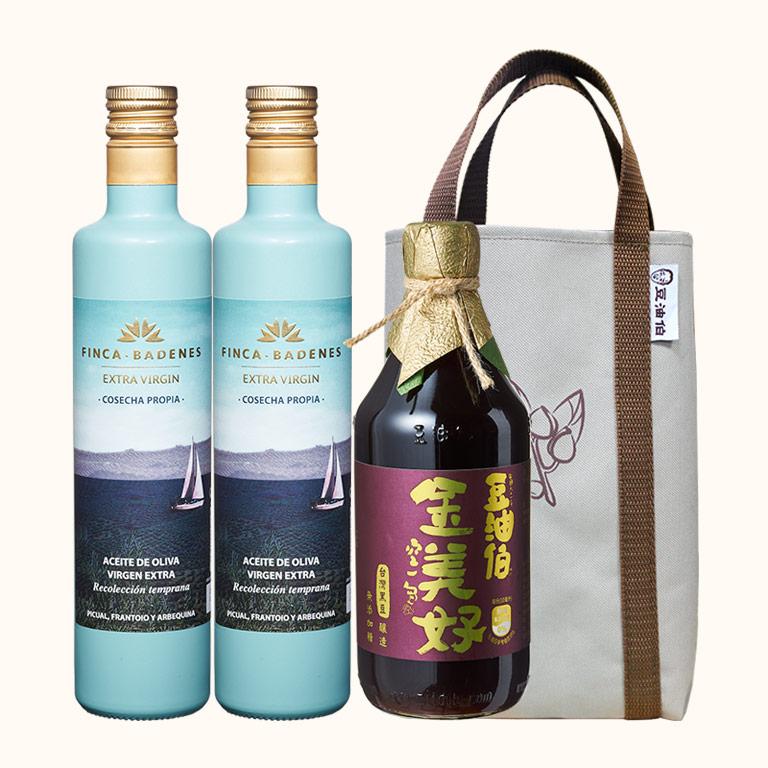 【點我加購88up】巴狄尼絲橄欖油2入+金美好醬油1入(共3入)送提袋1個