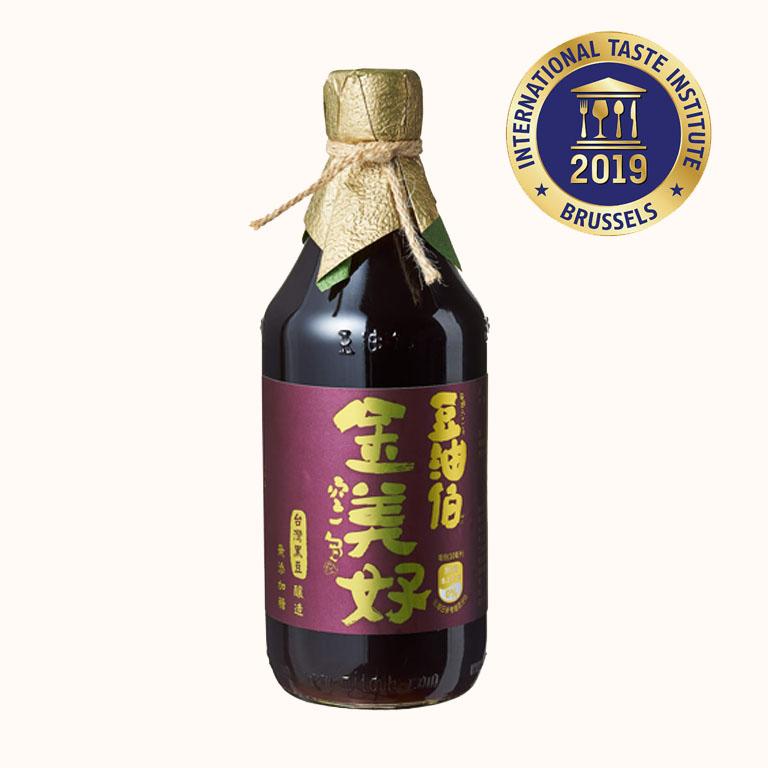 豆油伯金美好無添加糖釀造醬油500ml(黑豆醬油)