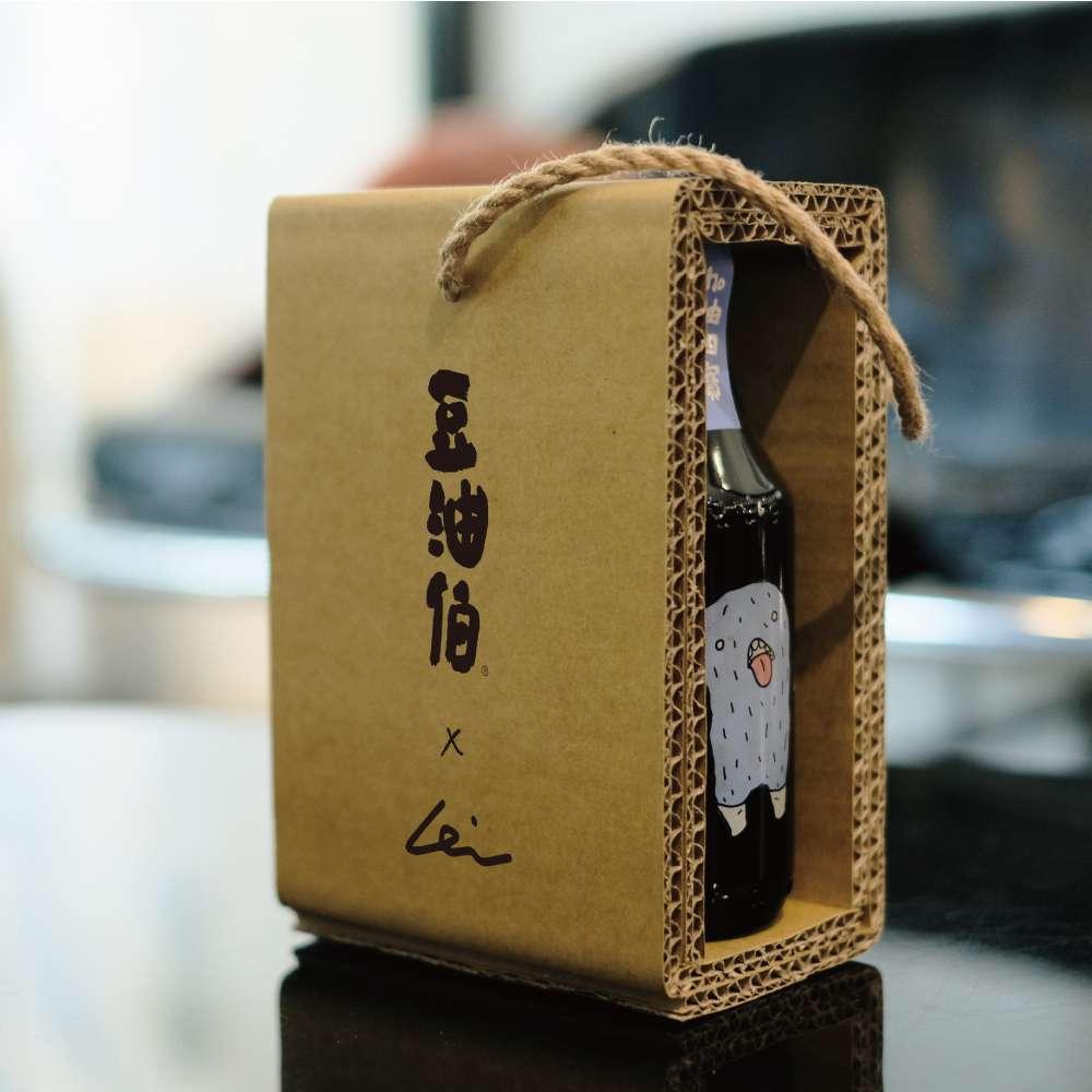 豆油伯X阿咧A-Lei限定款_缸底300ml*2瓶瓦楞禮盒