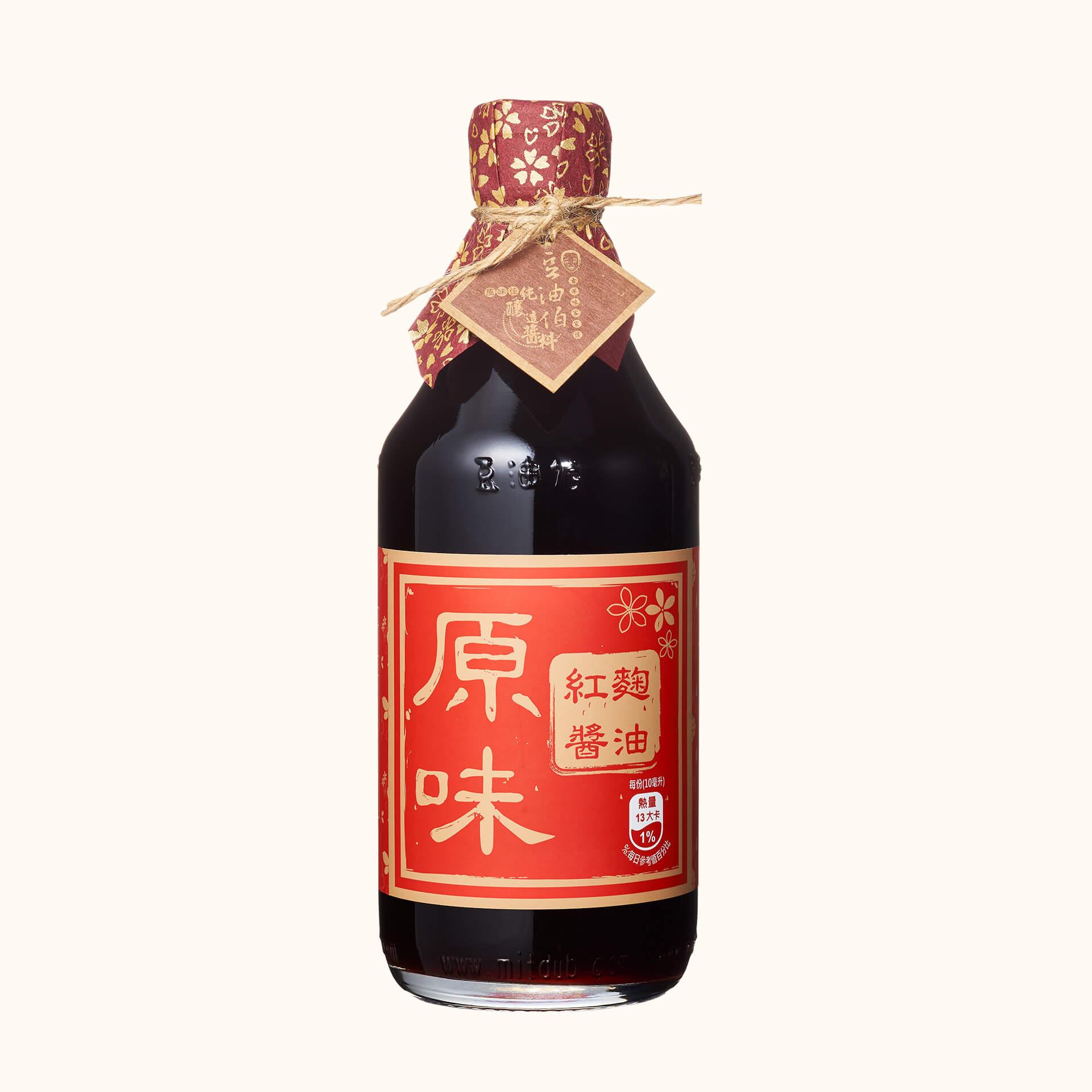 豆油伯原味紅麴釀造醬油500ml