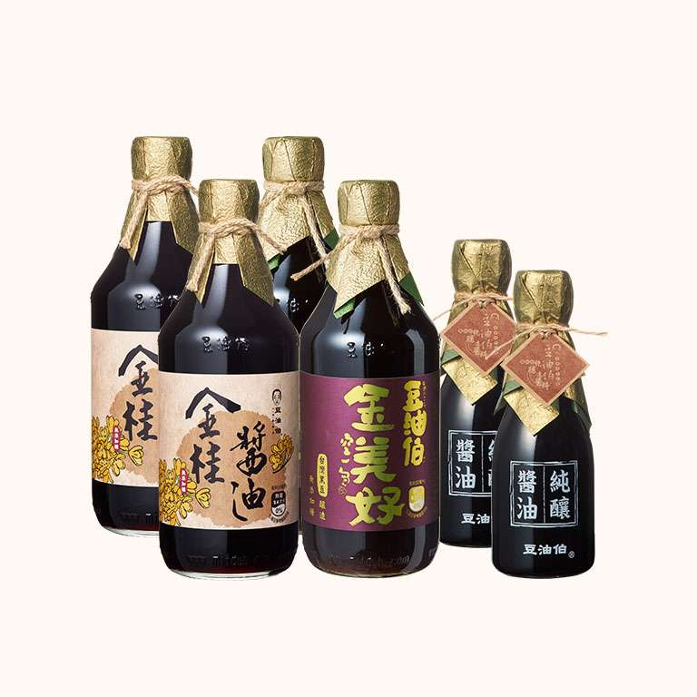 【無添加糖黑豆組】金桂醬油500ml2入+金美好500ml2入+金桂醬油180ml2入(共6入)