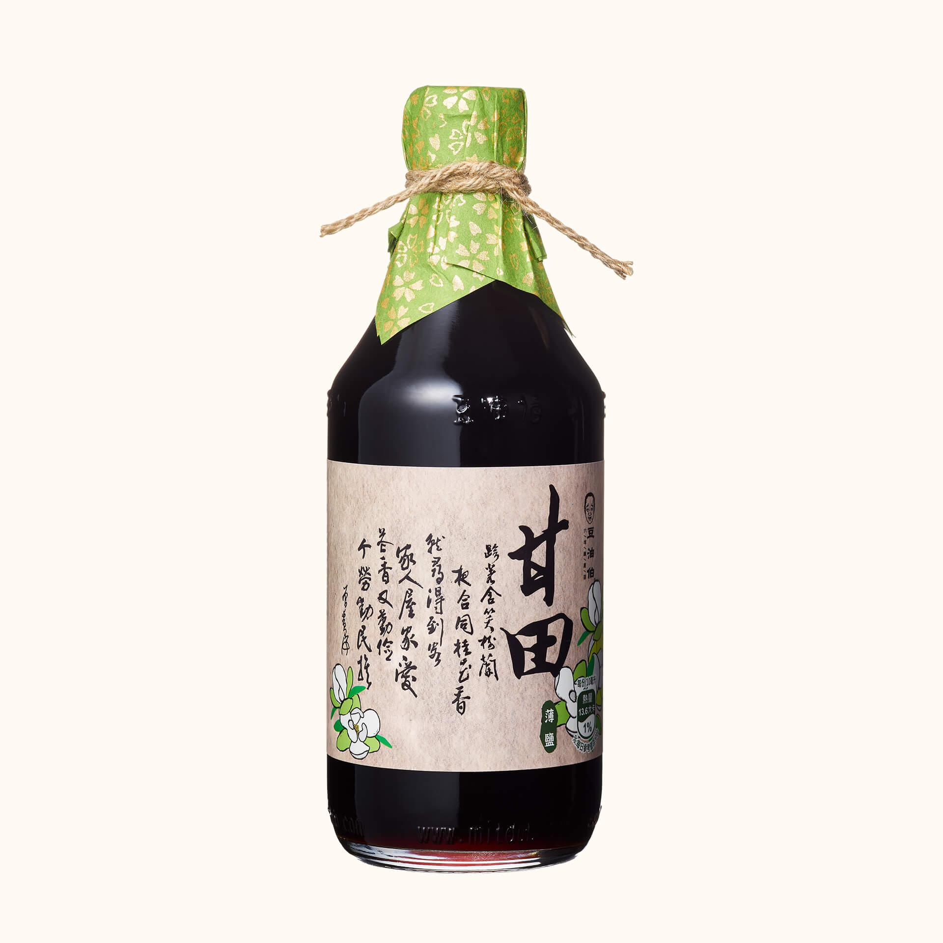 【窗花禮盒】缸底醬油4入+甘田醬油4入(禮盒4組,共8入)(不挑色)