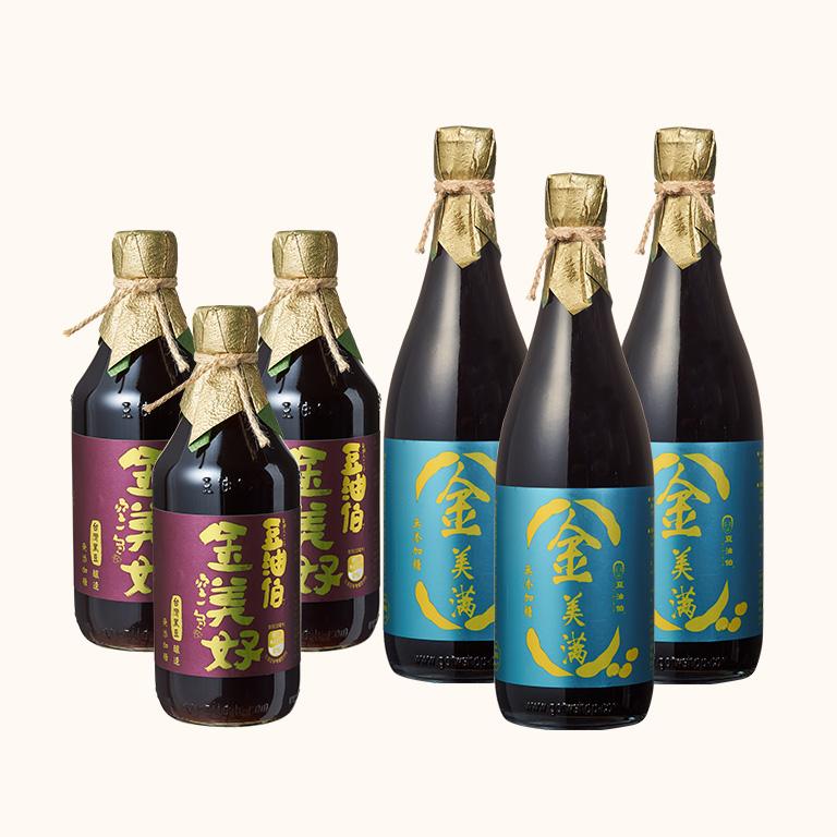 【週三限時-買好買滿組】金美好醬油3入+金美滿醬油3入(680ml) (共6入)