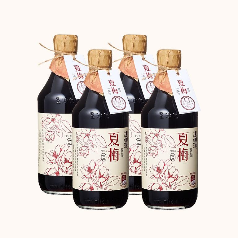 【第二件5折】竹田設計版-夏梅無添加糖釀造醬油500ml(4入)(下單1為兩件共4瓶)