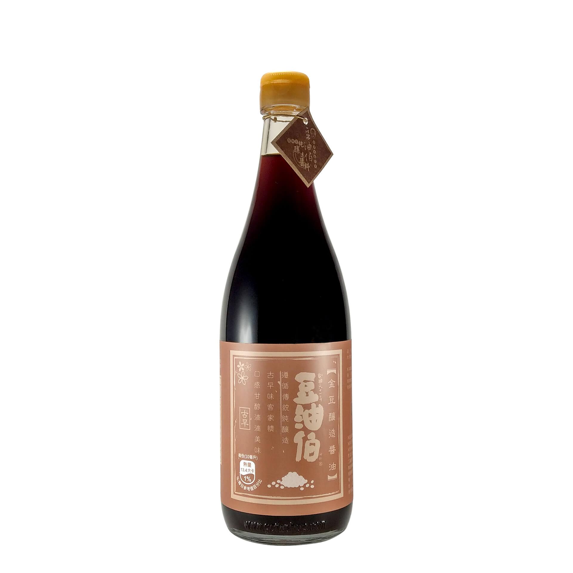 豆油伯金豆釀造醬油680ml(PChome獨家)