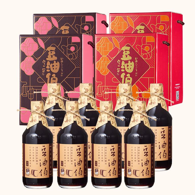 【窗花禮盒】缸底醬油2入禮盒(4組,共8入)(不挑色)