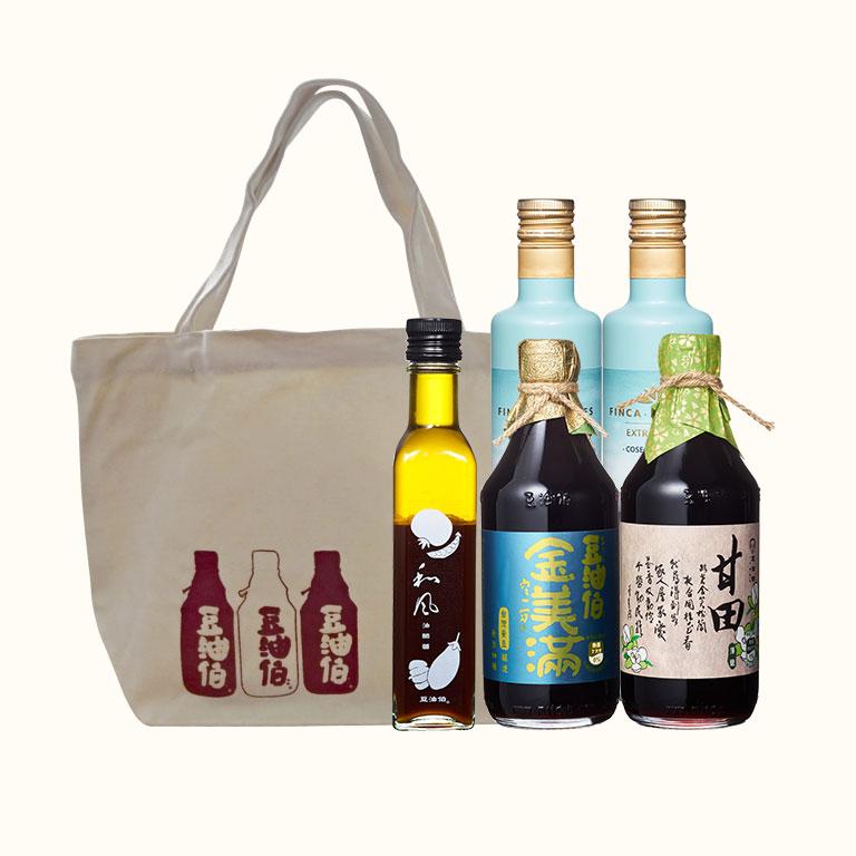 巴狄尼絲橄欖油500ml*2+甘田醬油*1+金美滿醬油*1送油醋醬*1+春遊袋*1(不挑款)