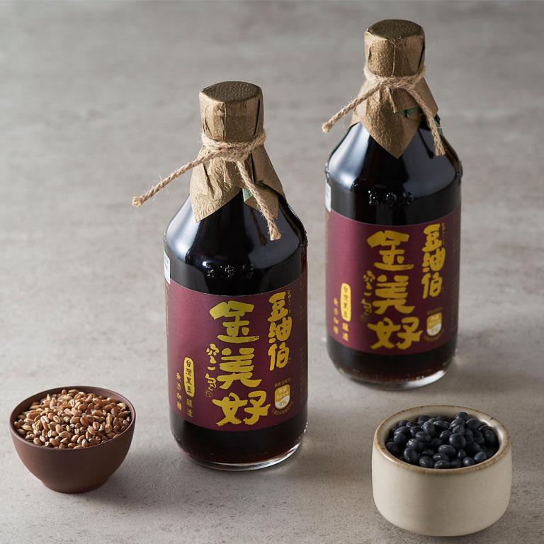 【小林郭郭推薦】金美好黑豆醬油2瓶+甘田薄鹽醬油2瓶+莊園橄欖油2瓶,1組共6入