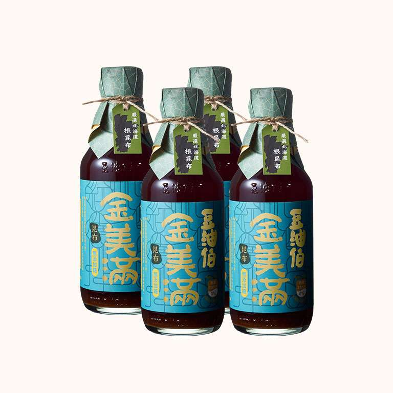 【量販首推】豆油伯昆布金美滿釀造醬油300ml(4入)