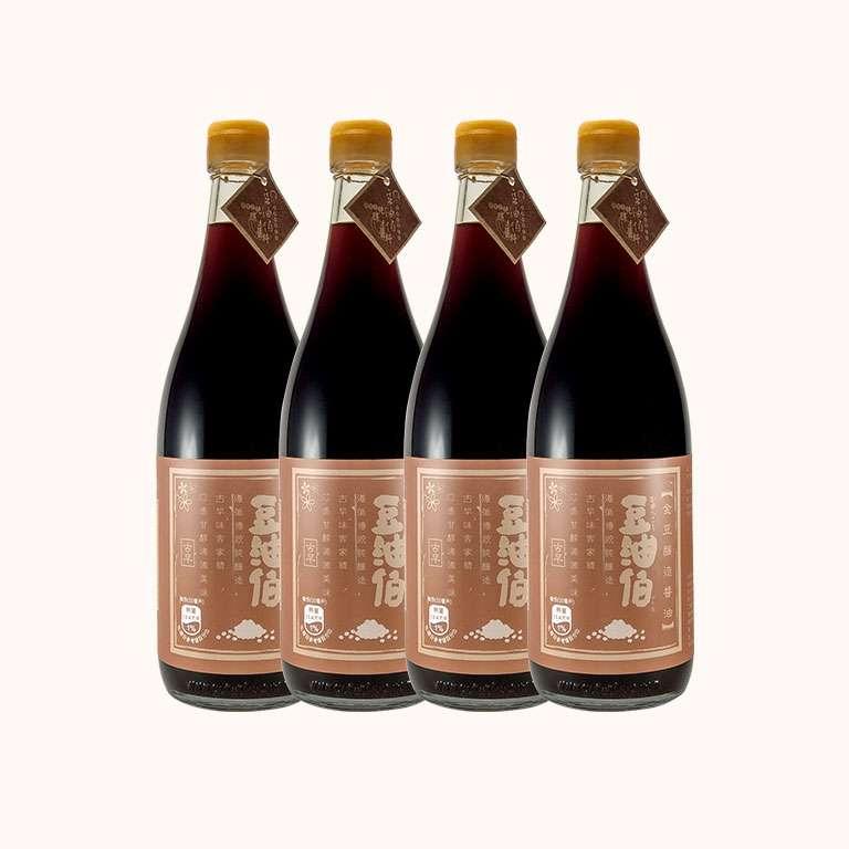 【第二件5折,限量15組】金豆醬油680ml(共4入)(下單1為兩件共4瓶)