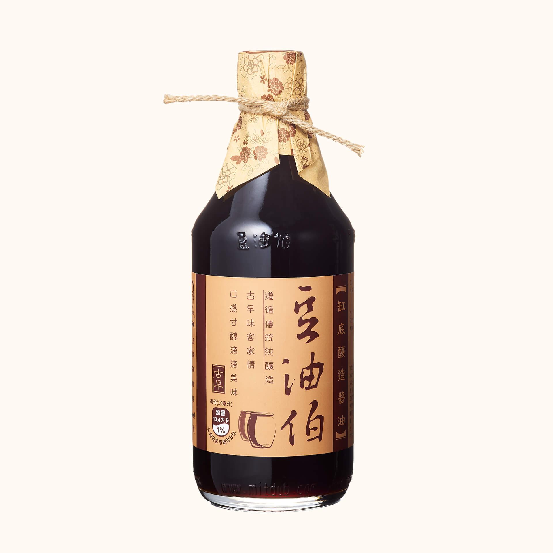 【第二件5折】缸底醬油1入+金豆醬油1入,送復古袋1個(不挑色)(共2組,4入)