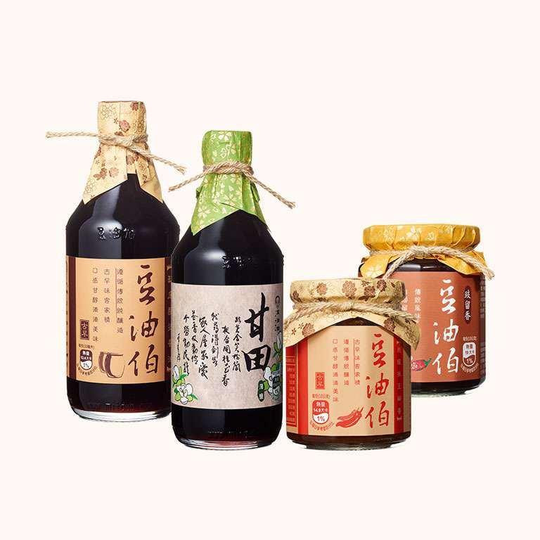 【居家萬用組】缸底醬油1入+甘田醬油1入+辣豆瓣醬1入+豉留香1入(共4入)