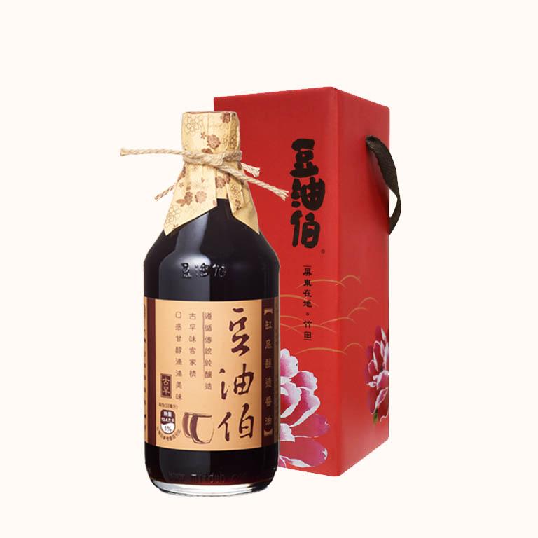 豆油伯缸底釀造醬油500ml (禮盒)