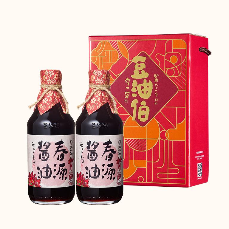 【窗花禮盒】春源醬油2入(禮盒1組,共2入)