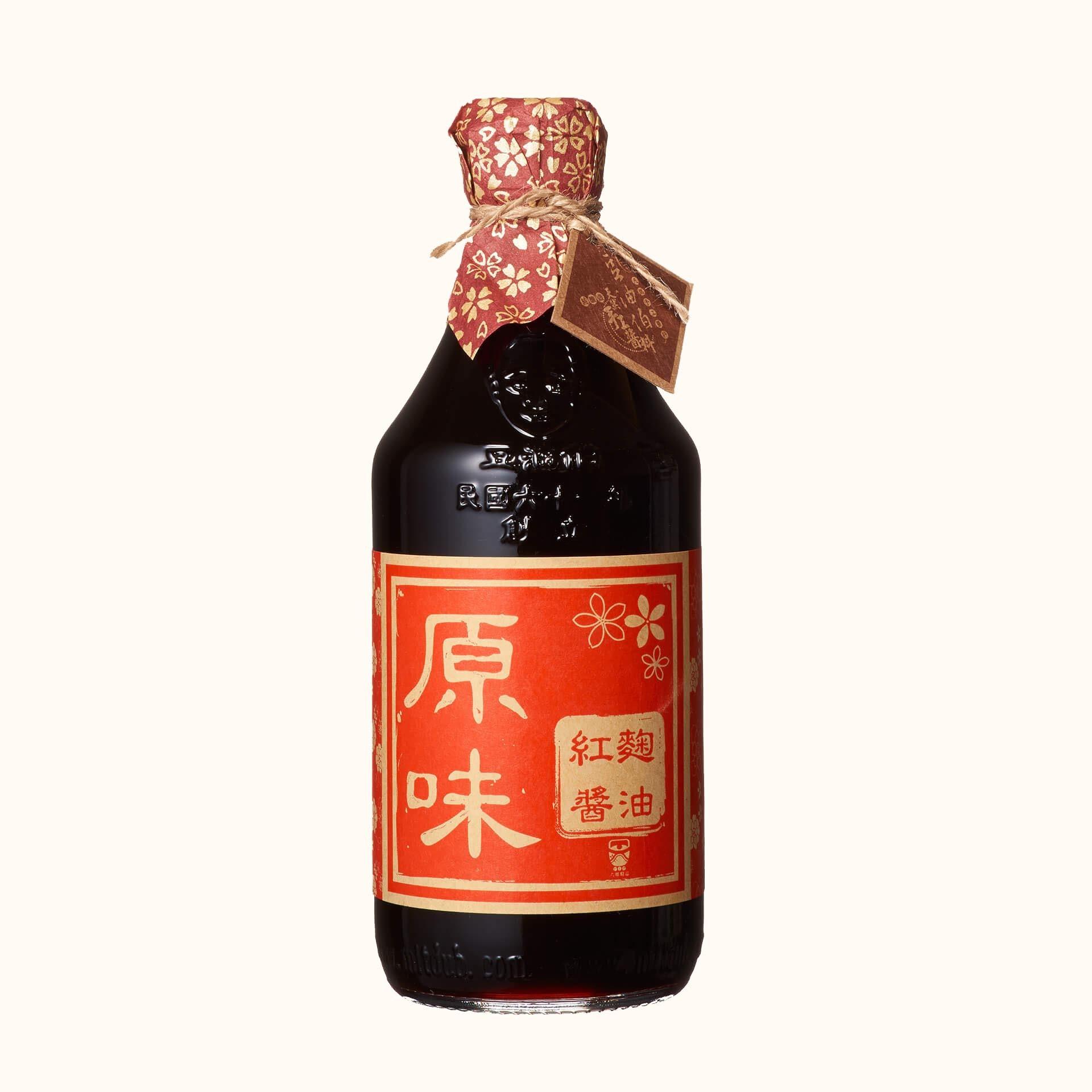 豆油伯原味紅麴釀造醬油500ml (禮盒)