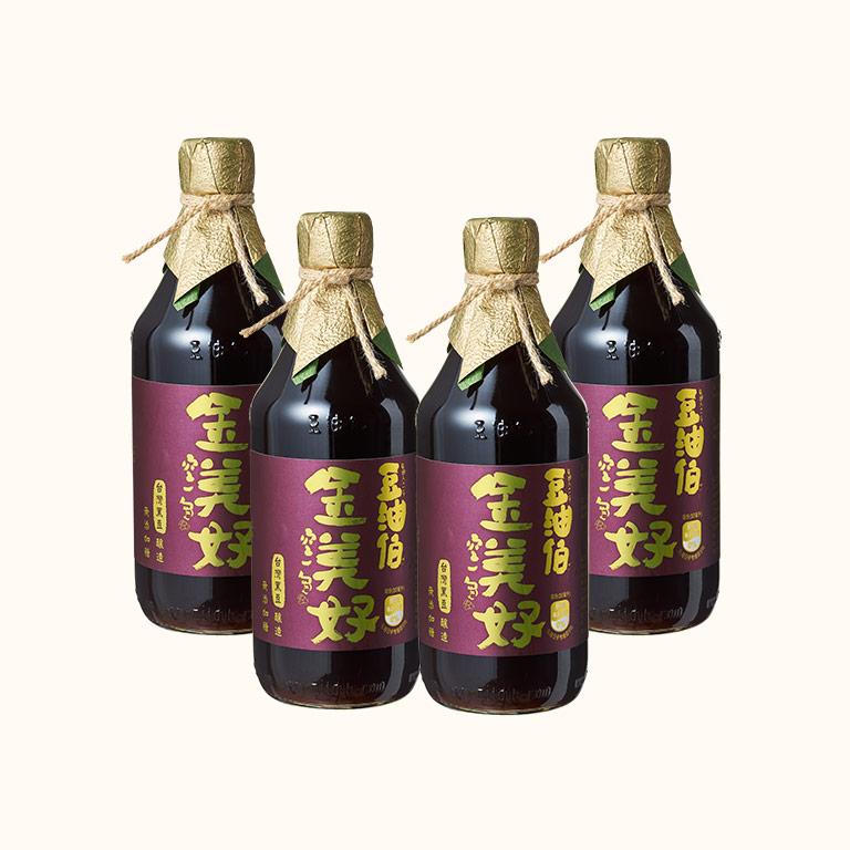 【第二件5折】蘿潔塔推薦-金美好(無添加糖)黑豆醬油4入