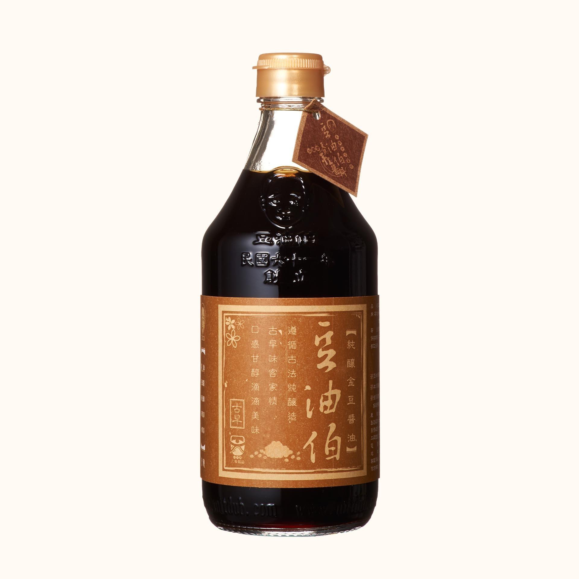 豆油伯金豆釀造醬油500ml