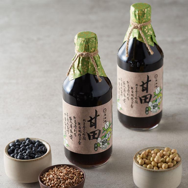 【料理推薦-生魚片】甘田醬油3入+金美滿醬油3入(共6入)送復古花袋*2(不挑色)