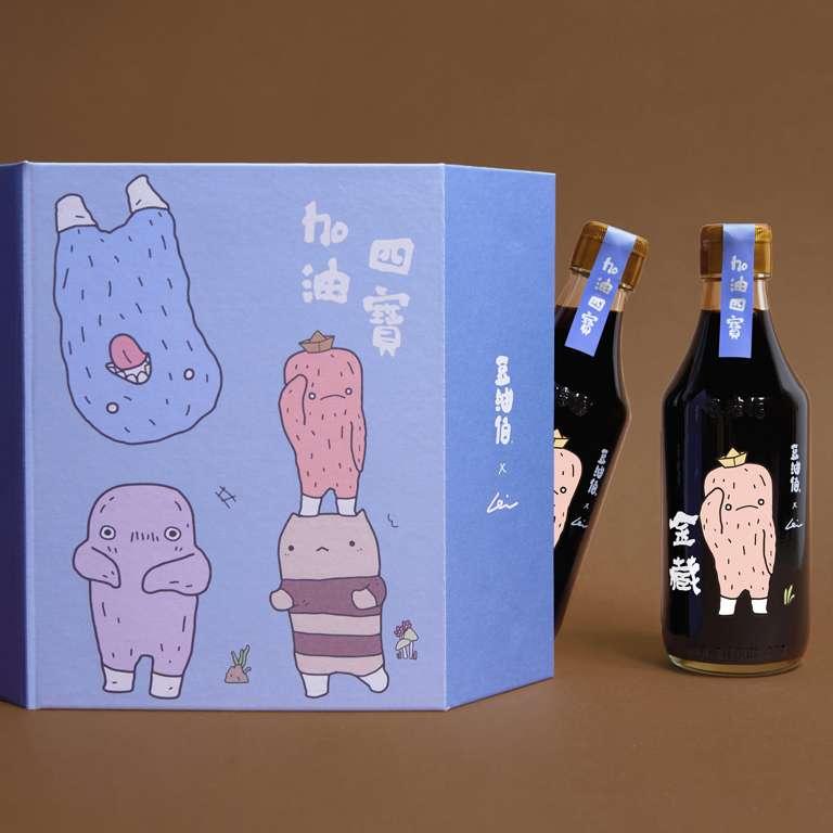 【限量】豆油伯X阿咧A-Lei限定款_金藏二次釀 300ml*2瓶 手工禮盒組