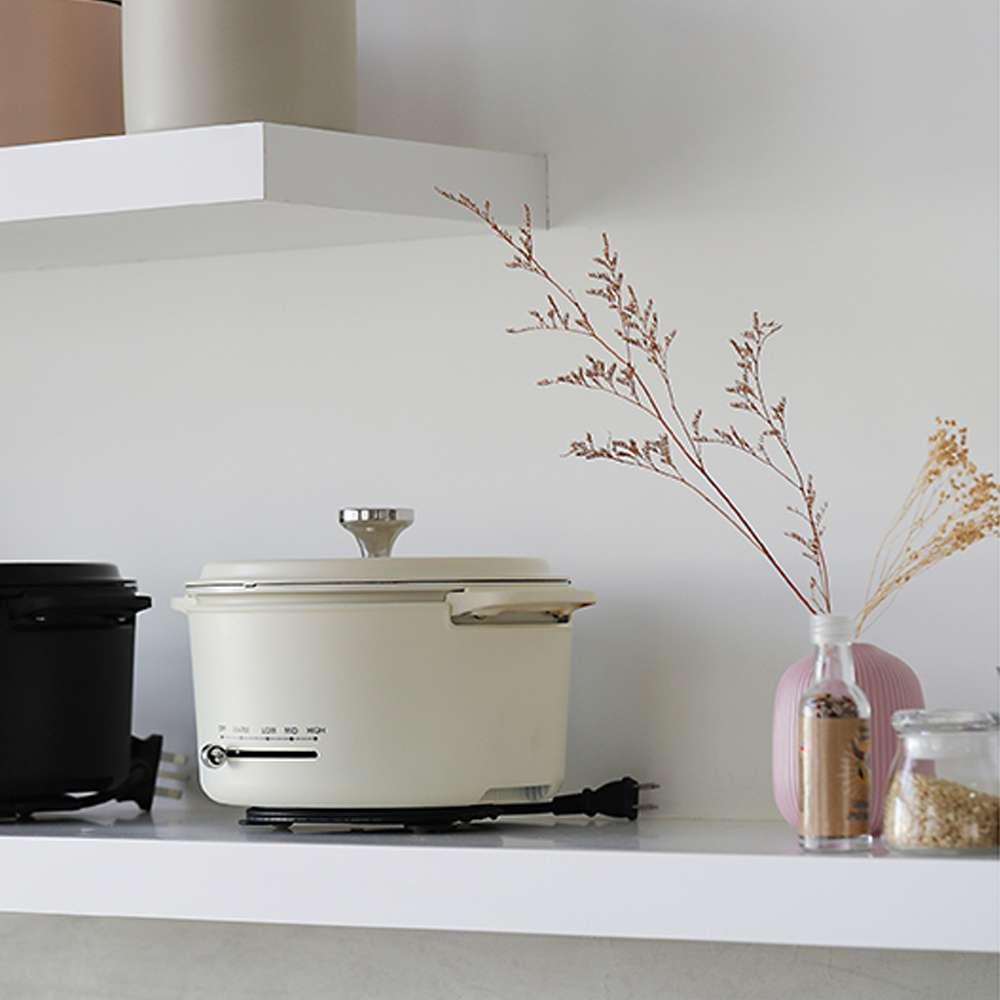 【限量組合】莊園頂級初榨橄欖油500ml(8入)+YAMAZEN 多功能調理鍋 (白)