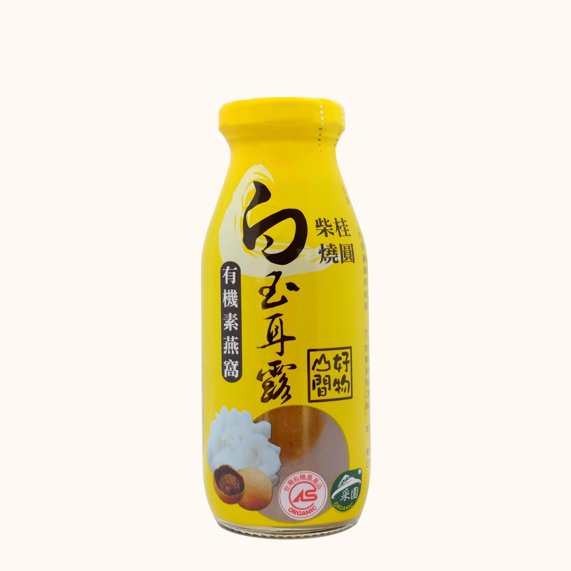 【小農特區】柴燒桂圓有機白玉耳露6瓶(禮盒組)