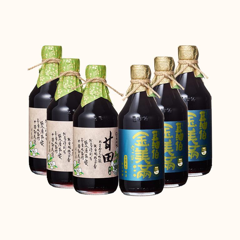 【蘿潔塔推薦】甘田醬油3入+金美滿醬油3入(共6入)