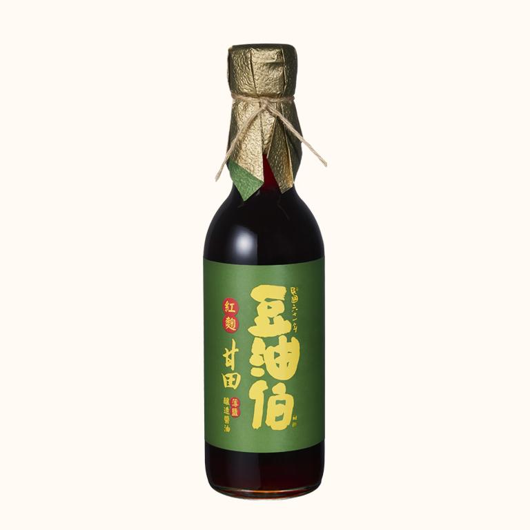 【全聯獨家】豆油伯紅麴甘田(薄鹽)釀造醬油300ml