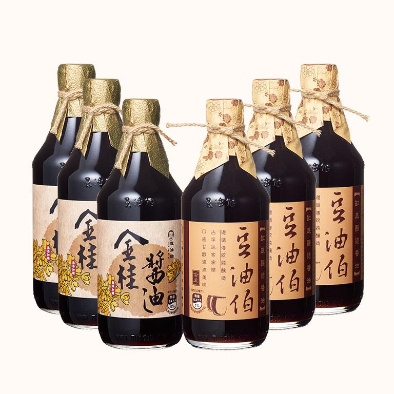 【熱銷雙享推薦】金桂醬油3入+缸底醬油3入(共6入)