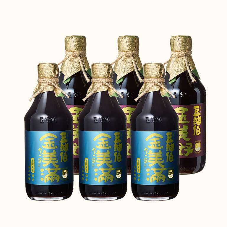 【小林郭郭推薦】金美好(無添加糖)黑豆醬油3入+金美滿(無添加糖)黃豆醬油3入