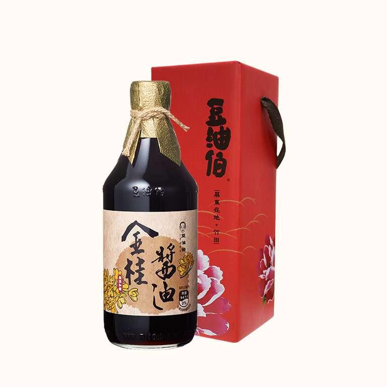 豆油伯無添加糖金桂醬油500ml (禮盒)