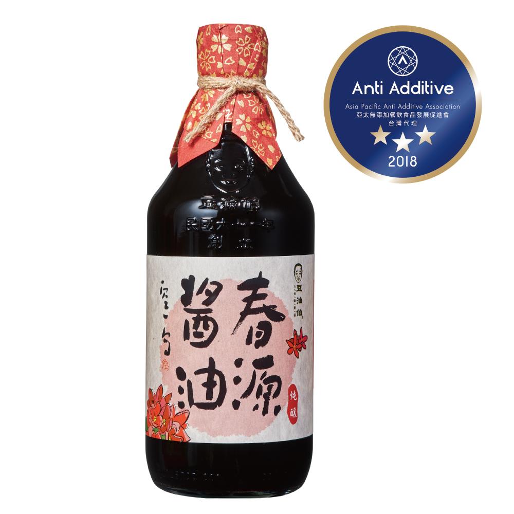 春源純釀黑豆醬油500ml*6入